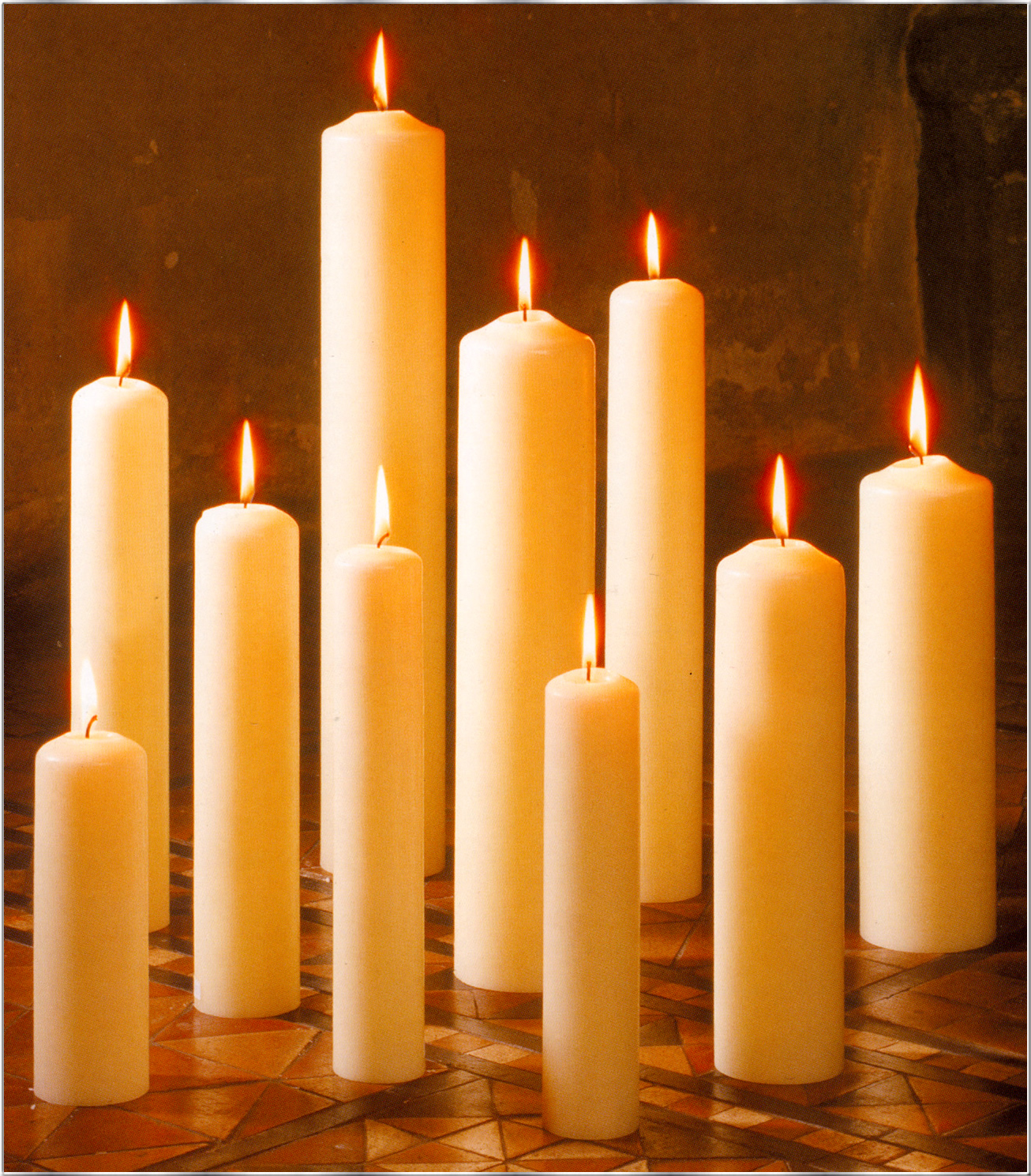 Candles for Oil filled candlesticks